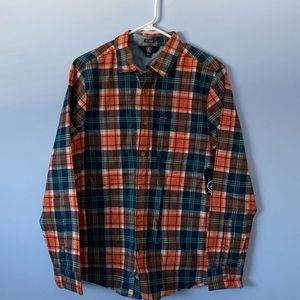 Volcom long sleeve button up plaid shirt